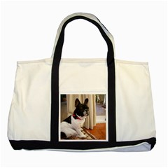 Sitting 3 French Bulldog Two Toned Tote Bag