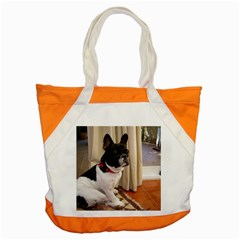 Sitting 3 French Bulldog Accent Tote Bag