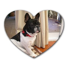 Sitting 3 French Bulldog Mouse Pad (Heart)