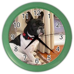 Sitting 3 French Bulldog Wall Clock (Color)