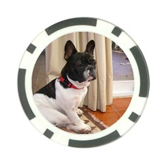 Sitting 3 French Bulldog Poker Chip