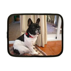 Sitting 3 French Bulldog Netbook Sleeve (Small)