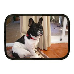 Sitting 3 French Bulldog Netbook Sleeve (Medium)