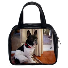 Sitting 3 French Bulldog Classic Handbag (Two Sides)
