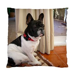 Sitting 3 French Bulldog Cushion Case (Two Sided)