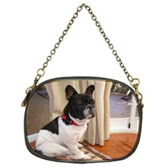 Sitting 3 French Bulldog Chain Purse (Two Sided)