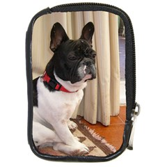Sitting 3 French Bulldog Compact Camera Leather Case
