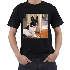Sitting 3 French Bulldog Men s T-shirt (Black)