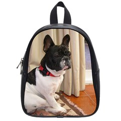 Sitting 3 French Bulldog School Bag (Small)