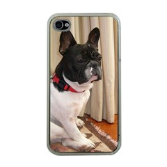 Sitting 3 French Bulldog Apple iPhone 4 Case (Clear)