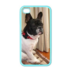 Sitting 3 French Bulldog Apple iPhone 4 Case (Color)