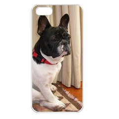 Sitting 3 French Bulldog Apple iPhone 5 Seamless Case (White)