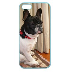 Sitting 3 French Bulldog Apple Seamless iPhone 5 Case (Color)