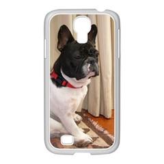 Sitting 3 French Bulldog Samsung GALAXY S4 I9500/ I9505 Case (White)