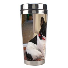 Sitting 3 French Bulldog Stainless Steel Travel Tumbler