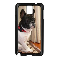 Sitting 3 French Bulldog Samsung Galaxy Note 3 N9005 Case (Black)