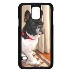 Sitting 3 French Bulldog Samsung Galaxy S5 Case (Black)