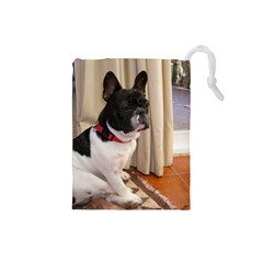Sitting 3 French Bulldog Drawstring Pouch (Small)