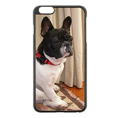 Sitting 3 French Bulldog Apple iPhone 6 Plus Black Enamel Case