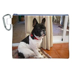 Sitting 3 French Bulldog Canvas Cosmetic Bag (XXL)