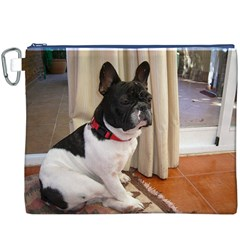 Sitting 3 French Bulldog Canvas Cosmetic Bag (XXXL)