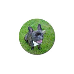 Sitting 2 French Bulldog Golf Ball Marker 4 Pack