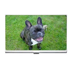 Sitting 2 French Bulldog Business Card Holder