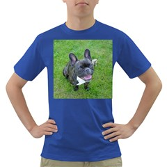 Sitting 2 French Bulldog Men s T-shirt (Colored)