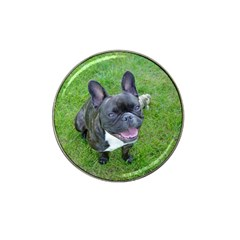 Sitting 2 French Bulldog Golf Ball Marker 4 Pack (for Hat Clip)