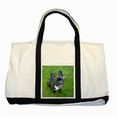 Sitting 2 French Bulldog Two Toned Tote Bag