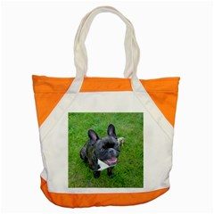Sitting 2 French Bulldog Accent Tote Bag