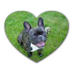 Sitting 2 French Bulldog Mouse Pad (Heart)