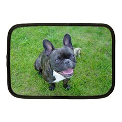 Sitting 2 French Bulldog Netbook Sleeve (Medium)