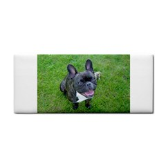 Sitting 2 French Bulldog Hand Towel