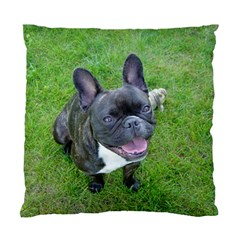 Sitting 2 French Bulldog Cushion Case (Two Sided)
