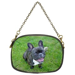 Sitting 2 French Bulldog Chain Purse (Two Sided)