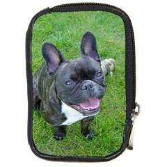 Sitting 2 French Bulldog Compact Camera Leather Case