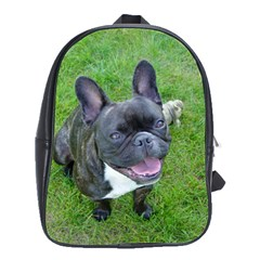 Sitting 2 French Bulldog School Bag (Large)