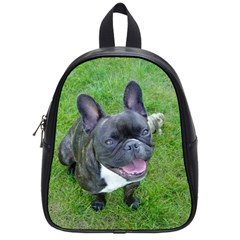 Sitting 2 French Bulldog School Bag (Small)
