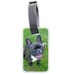Sitting 2 French Bulldog Luggage Tag (One Side)