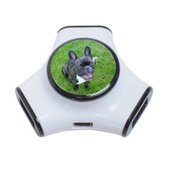 Sitting 2 French Bulldog 3 Port USB Hub