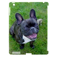 Sitting 2 French Bulldog Apple iPad 3/4 Hardshell Case (Compatible with Smart Cover)