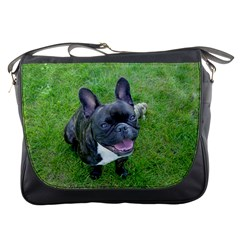 Sitting 2 French Bulldog Messenger Bag