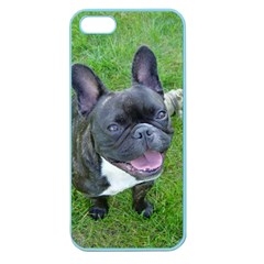 Sitting 2 French Bulldog Apple Seamless iPhone 5 Case (Color)