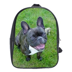Sitting 2 French Bulldog School Bag (XL)
