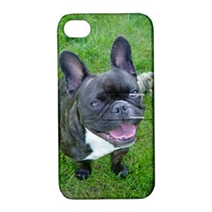 Sitting 2 French Bulldog Apple iPhone 4/4S Hardshell Case with Stand