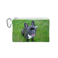 Sitting 2 French Bulldog Canvas Cosmetic Bag (Small)