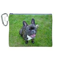 Sitting 2 French Bulldog Canvas Cosmetic Bag (XL)