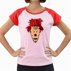 Evil Clown Hand Draw Illustration Women s Cap Sleeve T-Shirt (Colored)