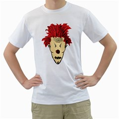 Evil Clown Hand Draw Illustration Men s Two-sided T-shirt (White)